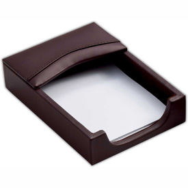 DACASSO Chocolate Brown Leather 4 x 6 Memo Holder by