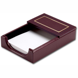 """DACASSO Burgundy 24Kt Gold Tooled 4"""" x 6"""" Memo Holder by"""