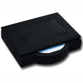 DACASSO Blackwood and Leather 4 x 6 Memo Holder by