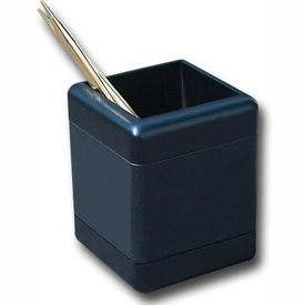 DACASSO Blackwood and Leather Pencil Cup by
