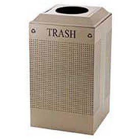 Rubbermaid® Silhouette DCR24T Recycling Receptacle w/Trash Opening, 29 Gallon - Desert Pearl