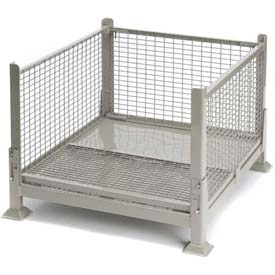 "Davco KDW-01 Collapsible Wire Mesh Steel Container 40-1/2""x34-1/2""x26"" Zinc-Galv"