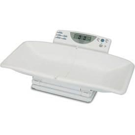 "Detecto 8440 Digital Baby Scale 44lb x 1/2oz/ 20kg x 10G W/ Collapsible 20-1/2"" x 10 3/4"" Tray"