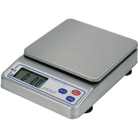 "Detecto PS11 NSF Digital Portion Scale 11lb Multi Capacity, 7"" x 5-1/2 SS Platform"