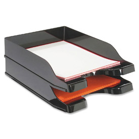 Deflect-O® Docutray Multi-Directional Stacking Tray, 2 Tiers, Black