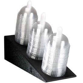 Dispense-Rite Angled Dome Lid Holder 3 Sections by