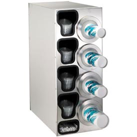 Buy Dispense-Rite Countertop Right 4 Cup Dispensing Cabinet w/Organizers SS