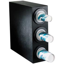 Dispense-Rite BFL Countertop 3 Cup Dispensing Cabinet Black by