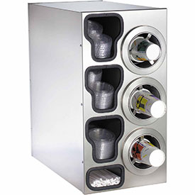 Buy Dispense-Rite Countertop SS Right 3 Cup Dispensing Cabinet w/Organizers
