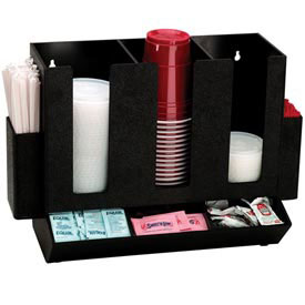 Dispense-Rite Countertop Cup, Lid, Straw and Condiment Organizer by