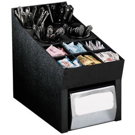 Dispense-Rite Countertop Silverware, Condiment and Napkin Organizer by