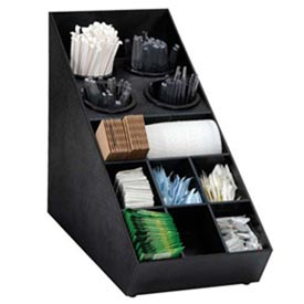 Silverware and Condiment Organizer, (13) compartments, black by