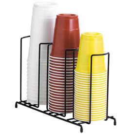 Dispense-Rite 3 Section Wire Rack Cup and Lid Organizer by