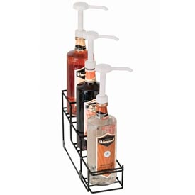 Dispense-Rite 3 Compartment Wire Rack Bottle Organizer by