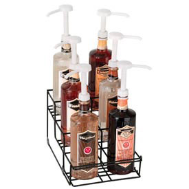 Dispense-Rite 6 Compartment Wire Rack Bottle Organizer by
