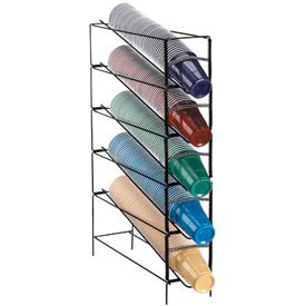 Dispense-Rite 5 Section Vertical Wire Rack Cup Dispenser by