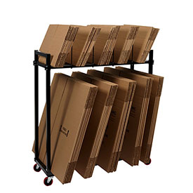"2 Tier 24""H Carton Rack With Deck And Four 15"" Dividers"