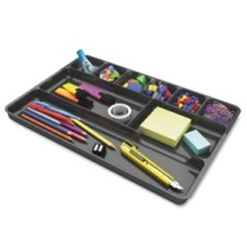 "Deflect-o Desk Drawer Organizer 14"" x 9"" Black by"