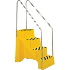 Ladders Step Stands 4 Step Plastic Step Stand Yellow