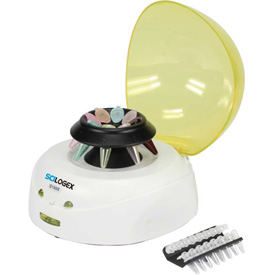 SCILOGEX D1008 Mini-Centrifuge, 91006141, 100-240V, 60Hz, 11-Place, PCR 8 x 2 W/ Cover, Yellow by