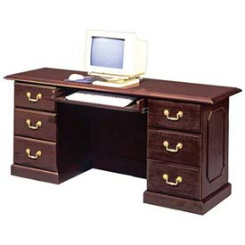 "DMI Computer Credenza 66""W x 20""D x 30""H Mahogany Finish Desk Governors Series by"
