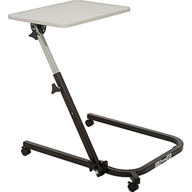 Drive Medical 13000 Pivot and Tilt Adjustable Overbed Table Tray