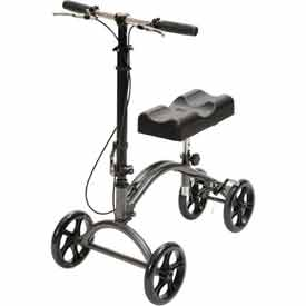 Drive Medical DV8 Aluminum Steerable Knee Walker, Silver Vein