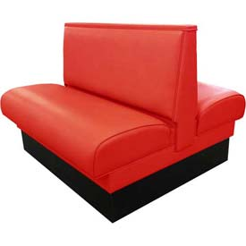 """DM Seating - 36""""H Double Upholstered Booth, DBD-36-RED, Plain Back, Red"""