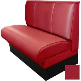 """DM Seating - 36""""H Single Upholstered Booth, DBS-363-WINE, 3-Channel Back, Wine"""