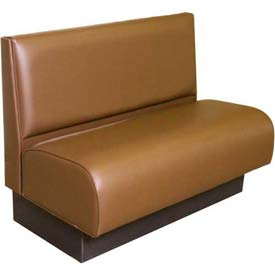 "DM Seating - 36""H Single Upholstered Booth, DBTPS-36-MOCHA, Pullover Plain Back, Tall Seat, Mocha"