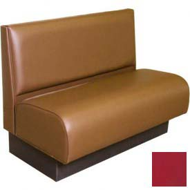 "DM Seating - 36""H Single Upholstered Booth, DBTPS-36-WINE, Pullover Plain Back, Tall Seat, Wine"
