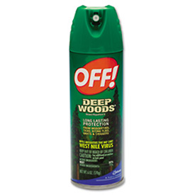 Off Deep Woods® 25% Deet Insect Repellent Unscented, 6 Oz. Aerosol 12/Case - 629350