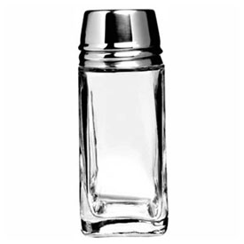 "Anchor Hocking 80570 Salt & Pepper Shaker W/Metal Lid, 2 Oz., 4-1/4"" x 2-1/8"",... by"