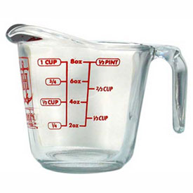 Anchor Hocking 55175OL13 Measuring Cup, 8 Oz., 4/Case by