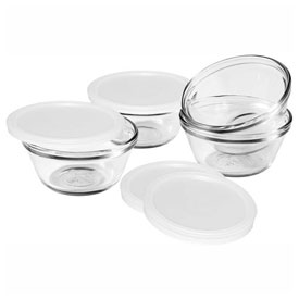 Anchor Hocking 81672L11 Crystal Custard Cups, 6 Oz., 4/Case by