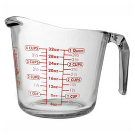 Anchor Hocking 55178OL13 Measuring Cup, 32 Oz., 3/Case by