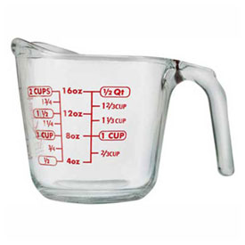 Anchor Hocking 55177OL13 Measuring Cup, 16 Oz., 4/Case by
