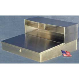 "Wall-Mount Stainless Steel Shop Desk - 23""Dx 24""W x 12""H"