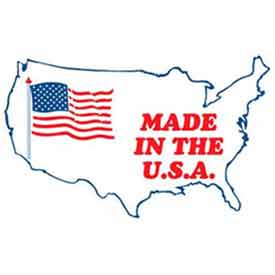 """Made In The USA 2"""" x 3"""" - White / Red / Blue"""