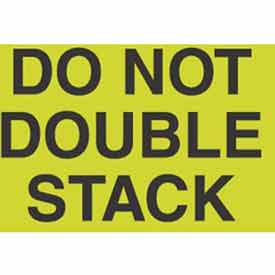 """Don't Double Stack 2"""" x 3"""" - Fluorescent Green / Black"""