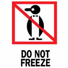 """Do Not Freeze 3"""" x 4"""" - White / Red / Black"""
