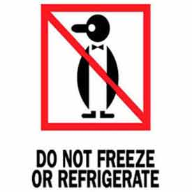 """Do Not Freeze Or Refrigerate 3"""" x 4"""" - White / Red / Black"""