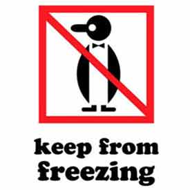 """Keep From Freezing 4"""" x 6"""" - White / Red / Black"""