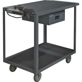 "Instrument Cart, 2 Shelves, 1200 Lbs. Capacity, 36 x 24, 8"" Pneumatic Casters"