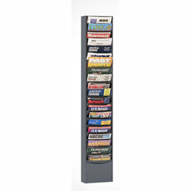 20 Pocket Vertical Literature Rack - Gray