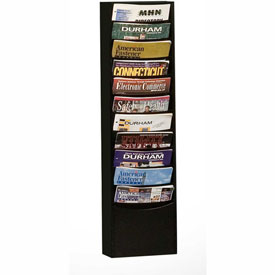 11 Pocket Vertical Literature Rack - Black