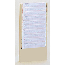 10 Pocket Medical Chart & Special Purpose Literature Rack - Putty