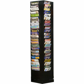 92 Pocket Rotary Literature Rack - Black