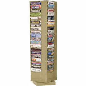 80 Pocket Rotary Literature Rack - Putty