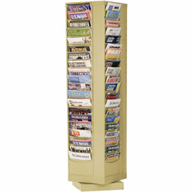 80 Pocket Rotary Literature Rack - Tan